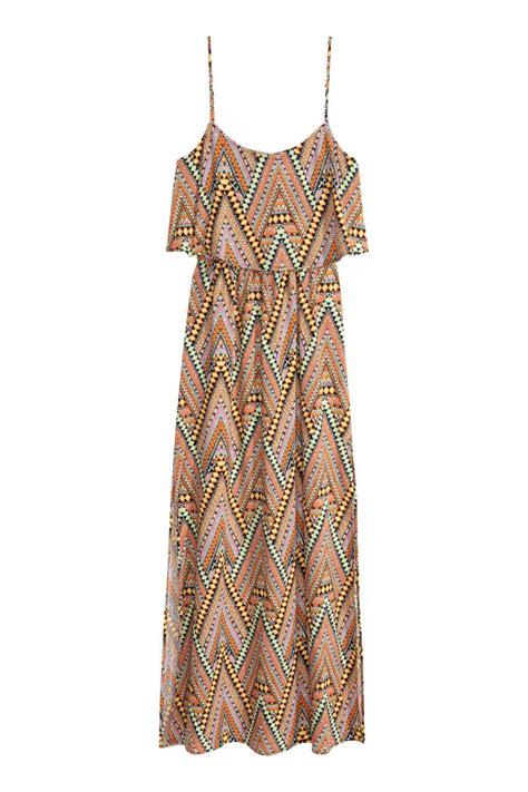 Orange Chain Dress M L 18289 1 patterned maxi dress orange patterned sale h m us