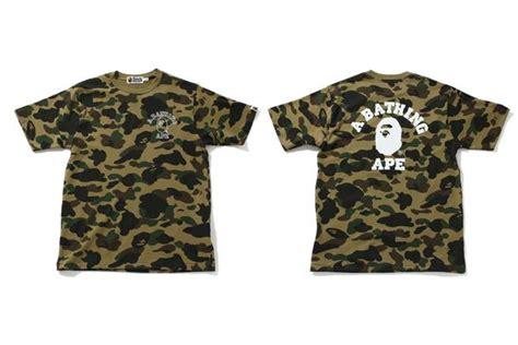 T Shirt By Bathing Ape Bape Camo Import Premium 1st camo product releases us bape