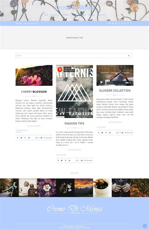 jekyll layout none creme di menta responsive wordpress blog by arthemewipes