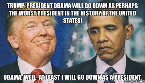 Trump Obama Memes - trump vs obama