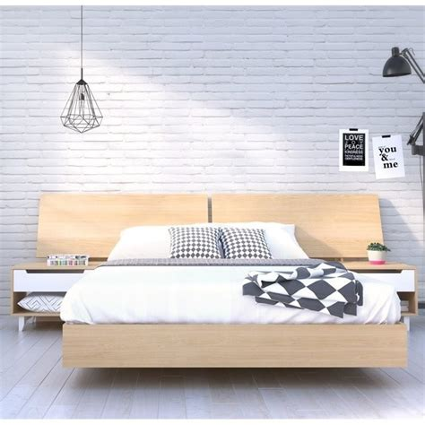 headboard kits queen queen platform bed with panoramic headboard in maple