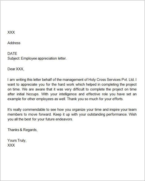 appreciation letter to resigned staff best 25 appreciation letter to ideas on