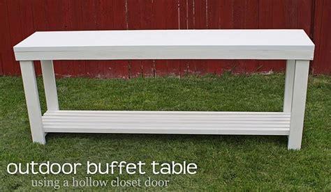 diy outdoor buffet table stuff  tyler     pinterest decks outdoor