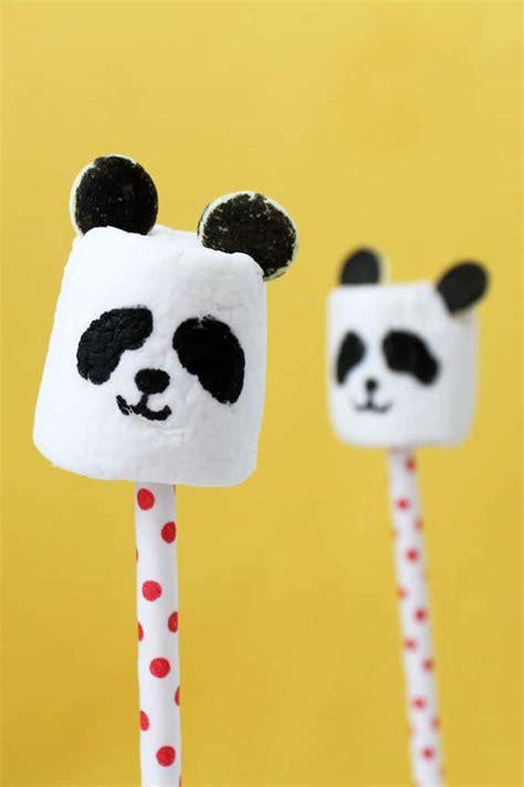 panda marshmallows    panda treats  crafts