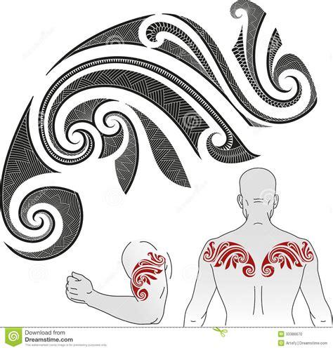 maori tattoo pattern chameleon stock photo image 33386670