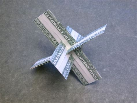 Origami Cross - dollar money origami 3 d cross money dollar origami