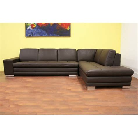 princeton leather sofa baxton studio princeton brown leather sectional sofa