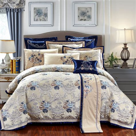King Size Bedding Set 6 4 6 9 Pcs Jacquard Luxury Wedding Royal Bedding Sets King Size Bed Set Cotton Bed