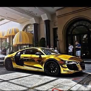 gold chrome audi r8 auto s gar 231 ons iron