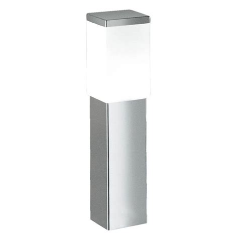 stainless steel l post eglo calgary 1 light stainless steel outdoor post l