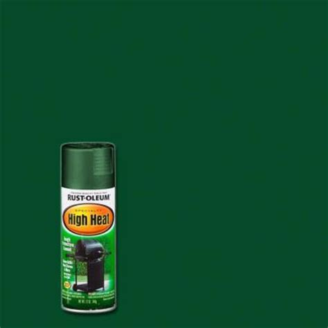 rust oleum specialty 12 oz flat green high heat spray paint of 6 7752830 the home depot