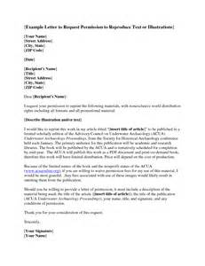 Permission Letter Address Dissertation Letter Permission