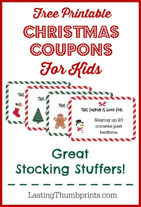 Printable Xmas Coupons | free christmas coupon printable for kids free homeschool