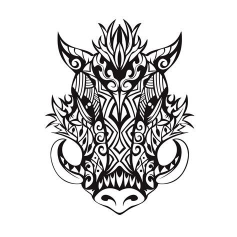 tribal boar tattoo tribal boar design