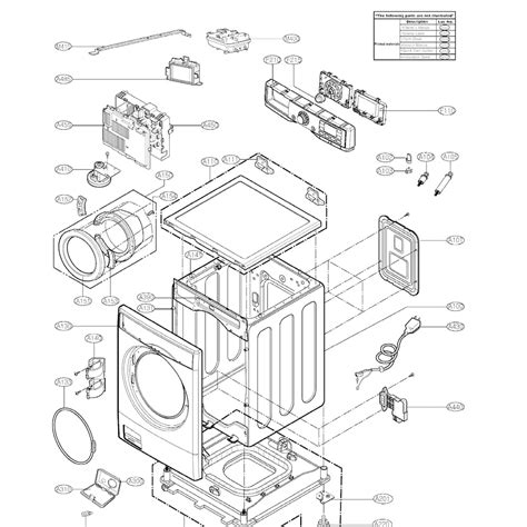 lg front load washer parts diagram lg washer parts diagram 23 wiring diagram images