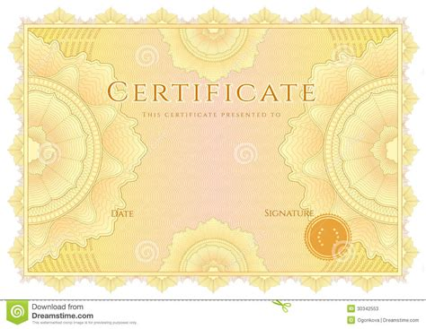 pattern background for certificate certificate diploma background yellow border stock
