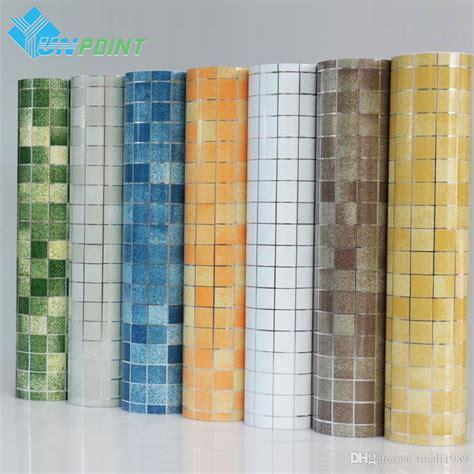 Home Decoration Wallpaper by Kitchen Wall Sticker Pvc Mosaic Tile Wallpaper Bathroom
