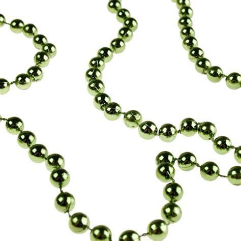 classic green bead chain garland 8mm x 10m decorations