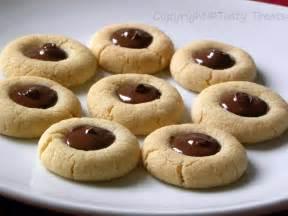 tasty treats chocolate thumbprint cookies