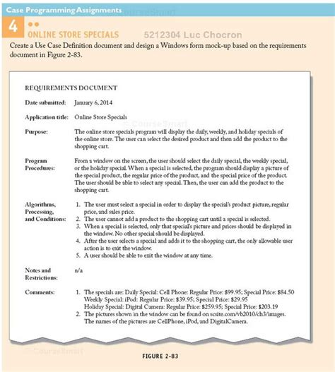 document layout meaning solved create a use case definition document and design a