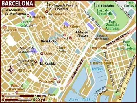 printable map barcelona city centre map of barcelona