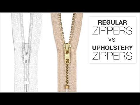 upholstery zipper comparing regular zippers upholstery zippers youtube