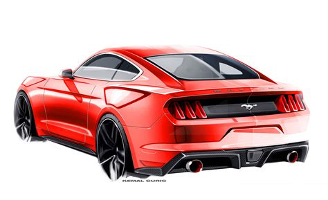 mustang designs ford mustang design sketch by kemal curic car design