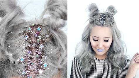 Hairstyle How To by How To Glitter Roots Hairstyle By Tashaleelyn