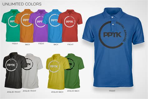 photoshop polo shirt pro template