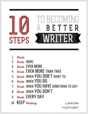 How To Be A Better Writer Essay by 10 Steps To Becoming A Better Writer Poster Copyblogger