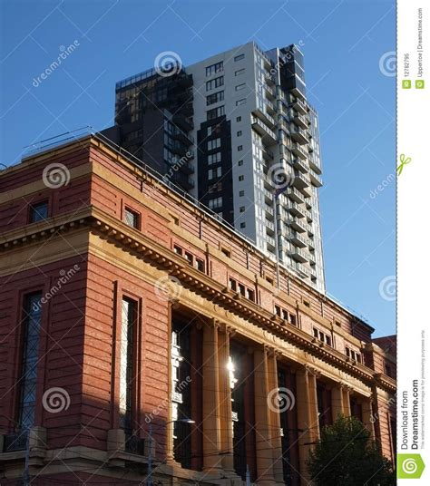 classic and modern architecture in melbourne stock image image 12782795