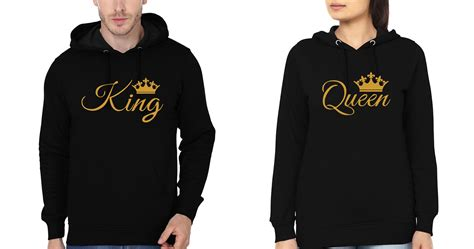 design hoodies online india king queen couple hoodie