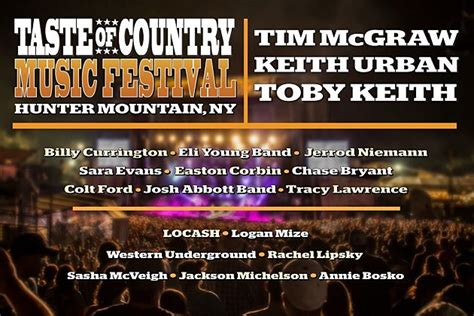 2015 taste of country music festival new york 2015 taste of country music festival lineup revealed