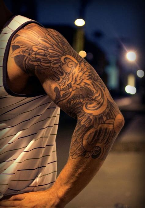 eagle back tattoo eagle sleeve jpg