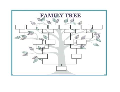Template Family Tree 40 Free Family Tree Templates Word Excel Pdf