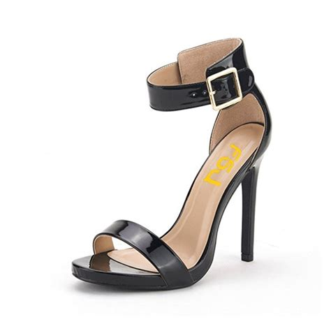 3 inch heel sandals black ankle sandals 3 inch heels for office