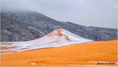 sahara desert snow first sahara desert snow in 37 years captured by photographer