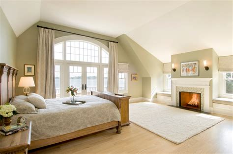 Window Treatments For Large Windows Bedroom Traditional