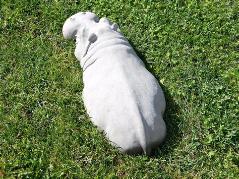 sculture giardino scultura di ippopotamo da giardino keblog shop