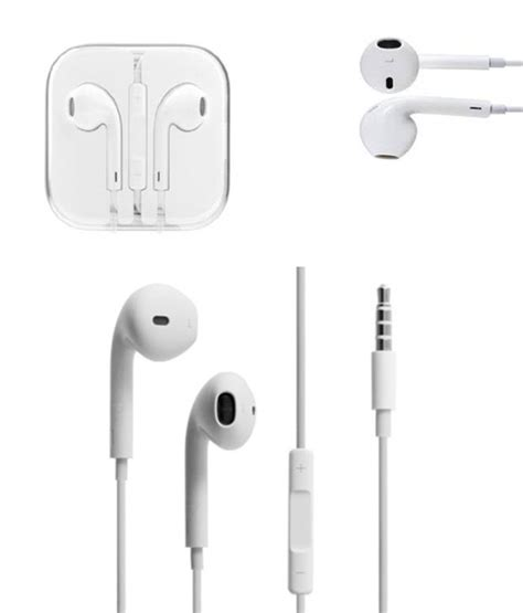 Hansfree Headset Iphone 5g 5s Original buy xfose earpods headset for apple iphone 5g white at best price in india