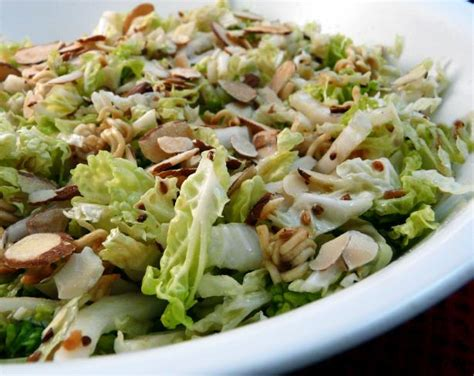 napa salad napa cabbage salad with a crunch recipe food