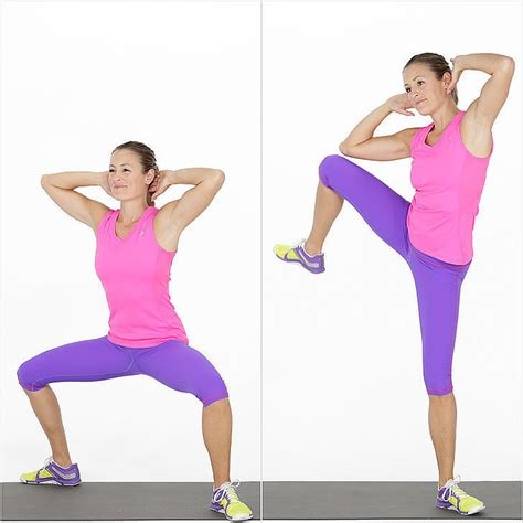 Stand Up Crunches by How To Do Sumo Squat Crunches Popsugar Fitness