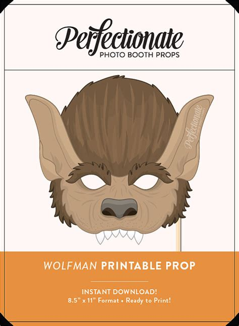 printable werewolf mask printable werewolf mask prop halloween printable prop diy