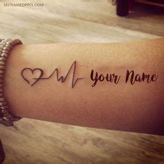 tattoo online writing write name on love heartbeat tattoo image lover name on