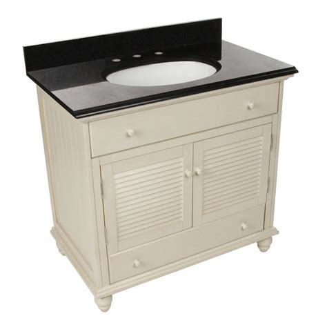 Country Bathroom Vanities Home Depot Foremost Cottage 37 In W X 22 In D Vanity In Antique