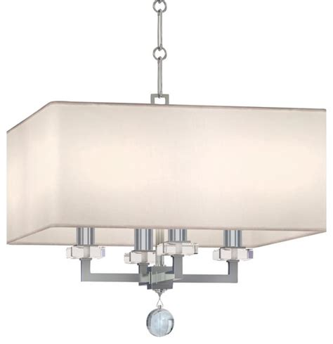 four light chandelier paxton four light polished nickel drum shade chandelier