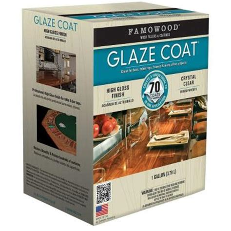 bar top finish home depot famowood 1 gal glaze coat clear epoxy kit 2 pack
