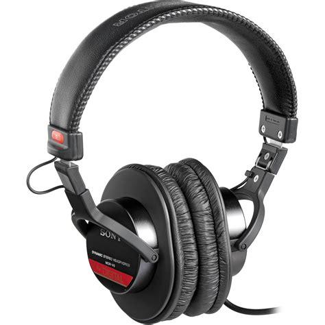 Headset Headphone Sony Mdr 10rc Headset Dj Sony sony mdr v6 closed back stereo studio headphones mdrv6 b h photo