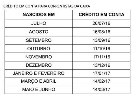 Calendario Do Pis 2017 E 2018 Calend 225 Do Pis 2017 Para Quem Tem Conta Na Caixa