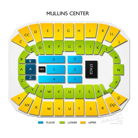 mullins center seating chart mullins center seating chart seats